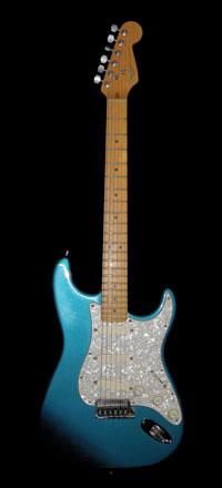 Blue Fender Stratocaster